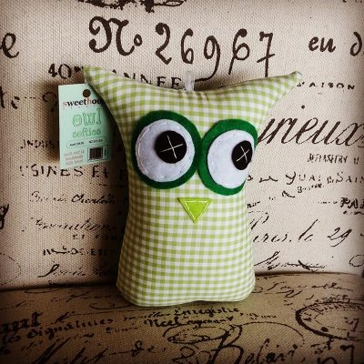 Green Checkered | 18cm Owl