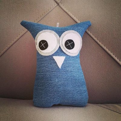 Light Blue Denim | 18cm Owl
