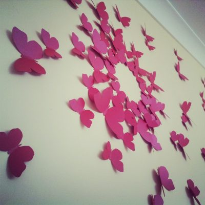 Hand Cut Butterflies for Walls | 30 pieces