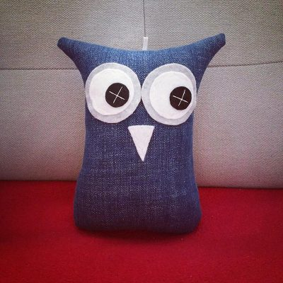 Denim Blue | 18cm Owl