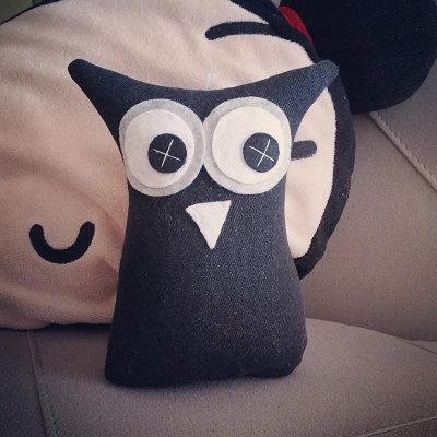 Black Denim | 18cm Owl