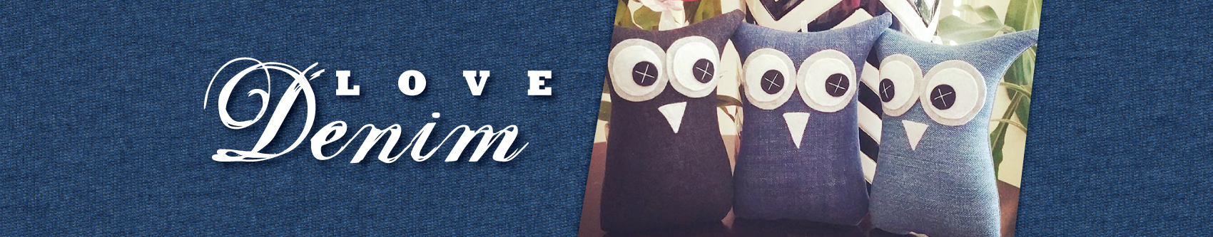 Denim Owl Softies by Georgina Sepa