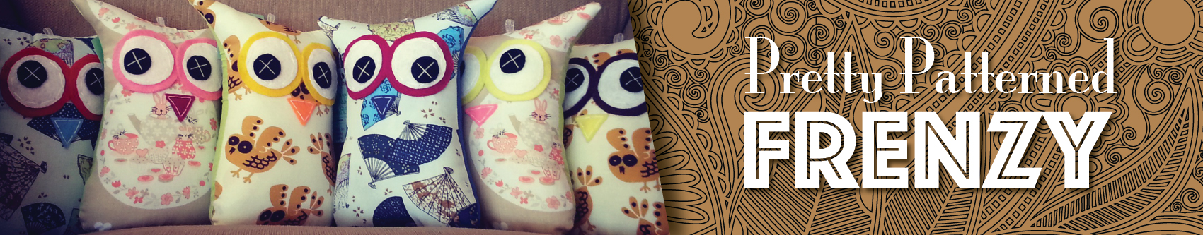Patterned Owl Softies | Sweet House Studios | Georgina Sepa