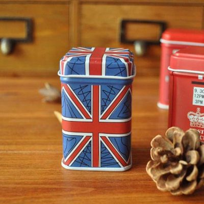 Blue British Mini Tea Tin