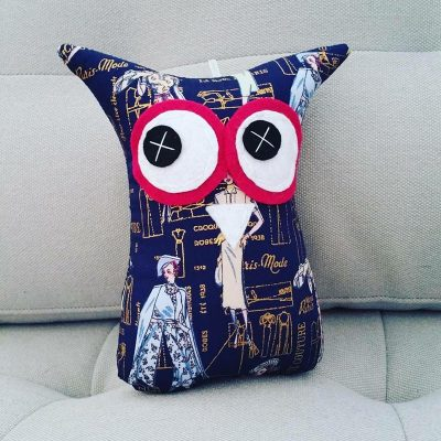 Paris Fashion Navy & Gold | 18cm Owl