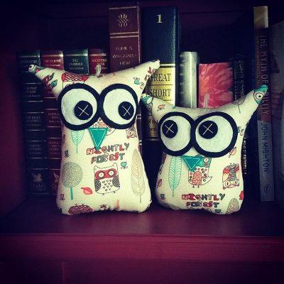Illustrated Cartoon Owls| MiniMe Set