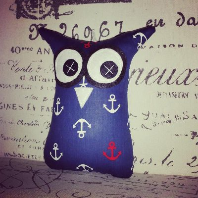 Navy Blue Anchor Design | 18cm Owl