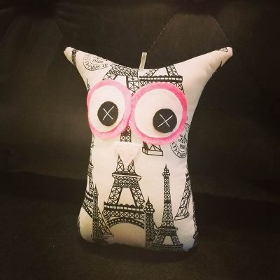 Paris White Eiffel Tower | 18cm Owl