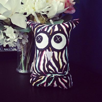 Colourful Zebra Design | 18cm Owl