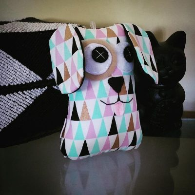 Geometric Pastel Triangles | 18cm Puppy