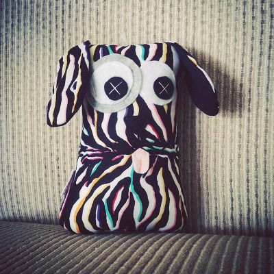 Colourful Zebra Pattern | 18cm Puppy