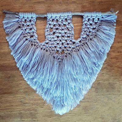 Large Macramé – Grey – 88x88cm